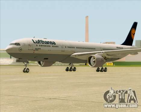 Airbus A330-300 Lufthansa for GTA San Andreas left view