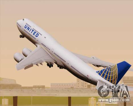 Boeing 747-8 Intercontinental United Airlines for GTA San Andreas