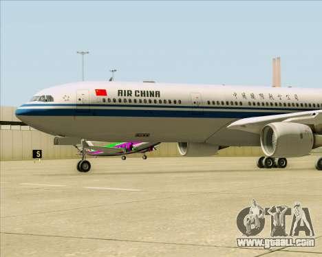 Airbus A330-300 Air China for GTA San Andreas side view