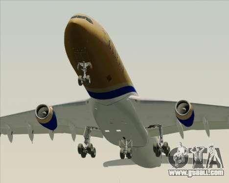 Airbus A340-313 Gulf Air for GTA San Andreas bottom view