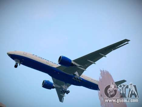 Boeing 777-212ER Transaero Airlines for GTA San Andreas back left view