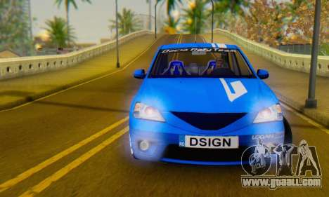 Dacia Logan Tuning Rally (B 48 CUP) for GTA San Andreas back view