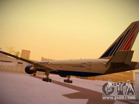 Boeing 777-212ER Transaero Airlines for GTA San Andreas back view