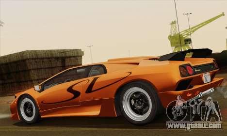 Lamborghini Diablo SV 1995 (ImVehFT) for GTA San Andreas left view