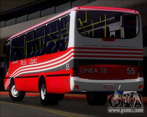 Neobus Spectrum Linea 38 Mcal. Lopez for GTA San Andreas wheels