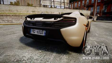 McLaren 650S Spider 2014 [EPM] Bridgestone v1 for GTA 4 back left view