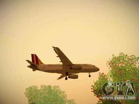 Airbus A319-132 Germanwings for GTA San Andreas bottom view