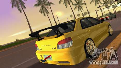 Subaru Impreza WRX STI 2006 Type 4 for GTA Vice City back left view