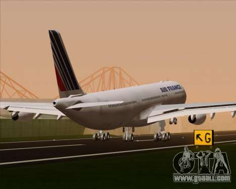 Airbus A340-313 Air France (Old Livery) for GTA San Andreas wheels
