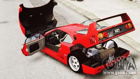 Ferrari F40 1987 for GTA 4 inner view