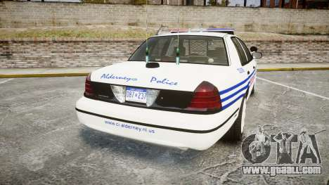 Ford Crown Victoria Alderney Police [ELS] for GTA 4 back left view