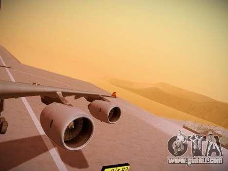 Airbus A340-600 Hainan Airlines for GTA San Andreas interior