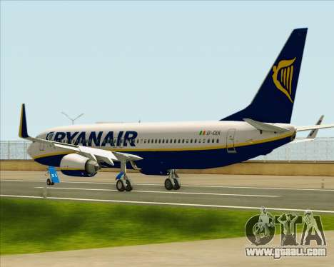 Boeing 737-8AS Ryanair for GTA San Andreas back left view