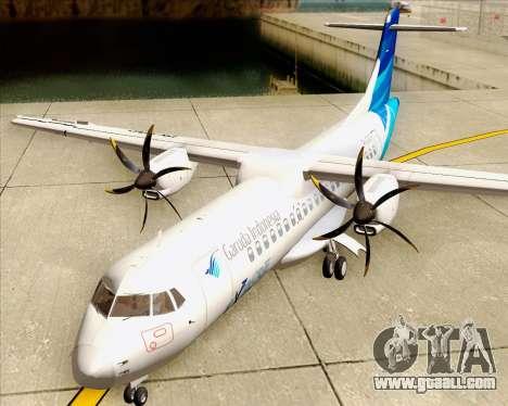 ATR 72-500 Garuda Indonesia Explore for GTA San Andreas inner view