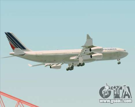 Airbus A340-313 Air France (Old Livery) for GTA San Andreas interior