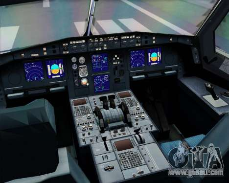 Airbus A330-300 Lufthansa for GTA San Andreas interior
