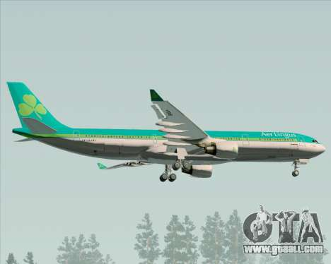 Airbus A330-300 Aer Lingus for GTA San Andreas inner view