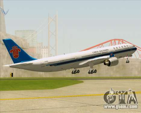 Airbus A330-300 China Southern Airlines for GTA San Andreas engine