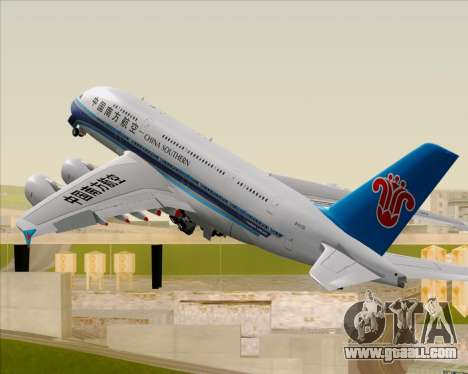 Airbus A380-841 China Southern Airlines for GTA San Andreas