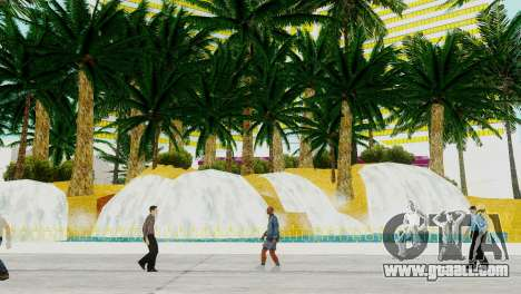 New textures casino Visage in Las Venturas for GTA San Andreas third screenshot