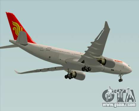 Airbus A330-200 Air China for GTA San Andreas upper view
