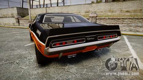 Dodge Challenger 1971 v2.2 PJ9 for GTA 4 back left view