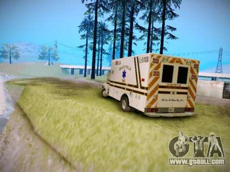 Pierce Commercial Grasonville Ambulance for GTA San Andreas right view