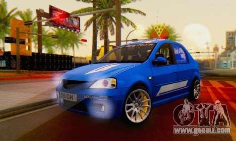 Dacia Logan Tuning Rally (B 48 CUP) for GTA San Andreas
