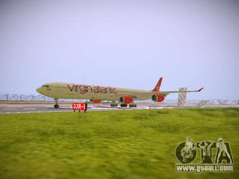 Airbus A340-600 Virgin Atlantic New Livery for GTA San Andreas