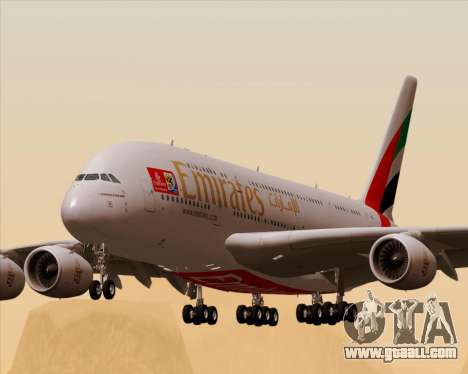 Airbus A380-841 Emirates for GTA San Andreas