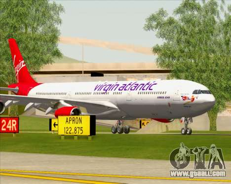 Airbus A340-313 Virgin Atlantic Airways for GTA San Andreas engine