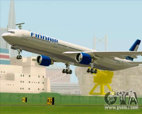 Airbus A330-300 Finnair (Old Livery) for GTA San Andreas bottom view
