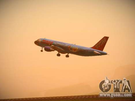 Airbus A320-214 TAM Airlines RIO for GTA San Andreas back view