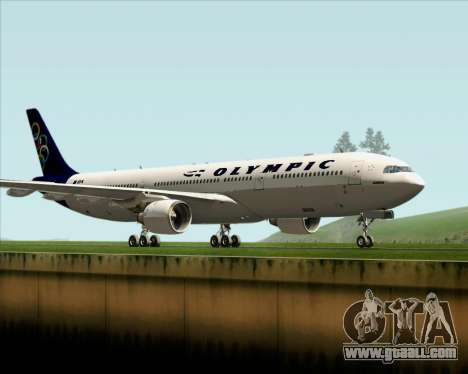 Airbus A330-300 Olympic Airlines for GTA San Andreas left view