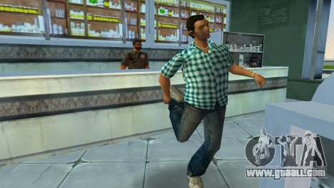 Kockas polo - vilagoskek T-Shirt for GTA Vice City third screenshot