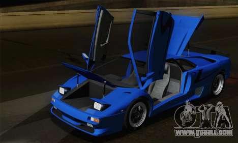 Lamborghini Diablo SV 1995 (HQLM) for GTA San Andreas bottom view