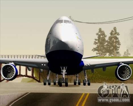 Boeing 747-8 Cargo British Airways World Cargo for GTA San Andreas bottom view