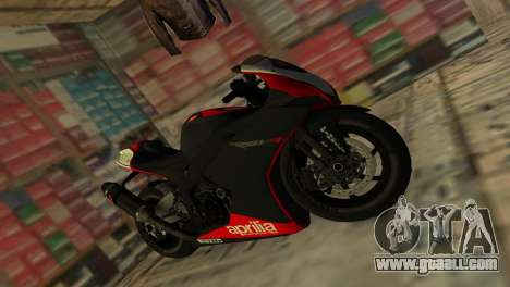 Aprilia RSV4 2009 Original for GTA Vice City right view