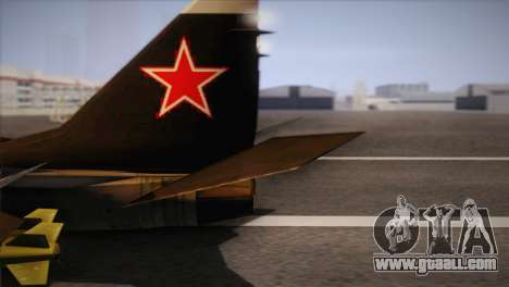 MIG 29 Russian Air Force From Ace Combat for GTA San Andreas back left view