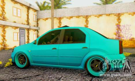 Dacia Logan Pearl Blue for GTA San Andreas back left view
