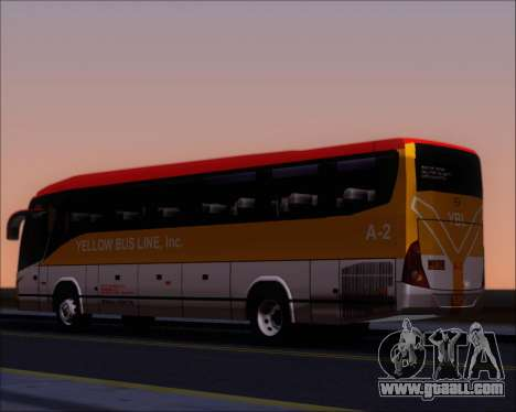 Marcopolo Paradiso G7 1050 Yellow Bus Line A-2 for GTA San Andreas back left view