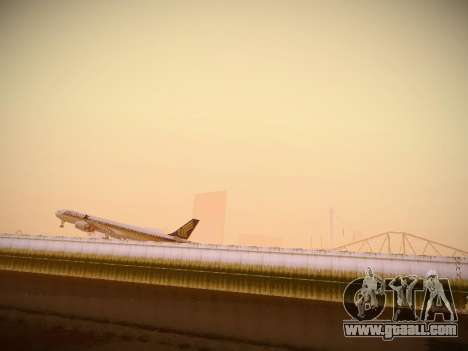 Airbus A340-600 Singapore Airlines for GTA San Andreas back view