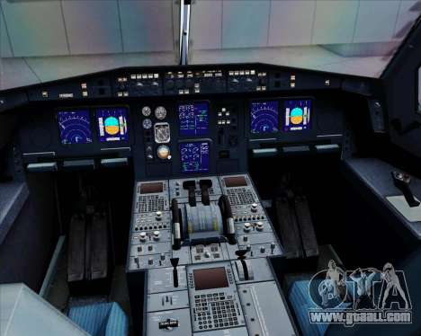 Airbus A330-300 Qantas for GTA San Andreas interior