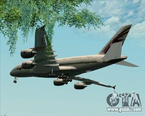 Airbus A380-861 Qatar Airways for GTA San Andreas inner view