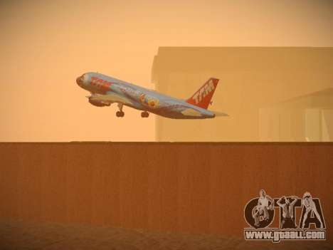 Airbus A320-214 TAM Airlines RIO for GTA San Andreas interior