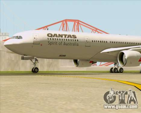 Airbus A330-300 Qantas for GTA San Andreas bottom view