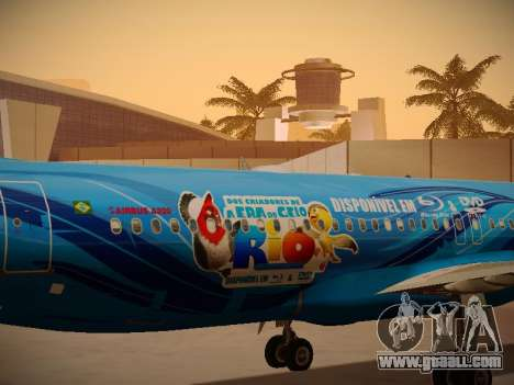 Airbus A320-214 TAM Airlines RIO for GTA San Andreas inner view