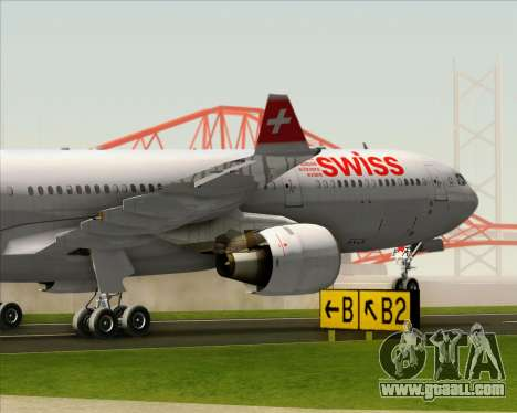 Airbus A330-300 Swiss International Air Lines for GTA San Andreas upper view