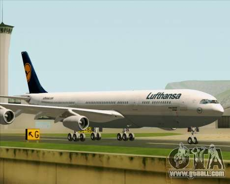 Airbus A340-313 Lufthansa for GTA San Andreas back left view