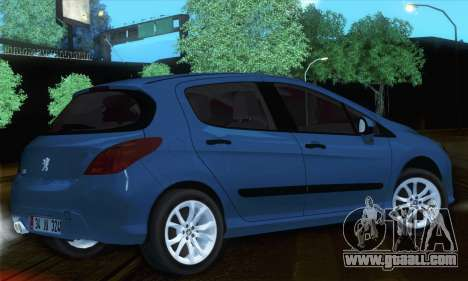 Peugeot 308 2010 for GTA San Andreas left view